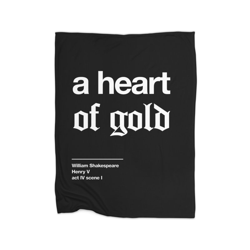 a heart of gold Home Fleece Blanket Blanket by Shirtspeare