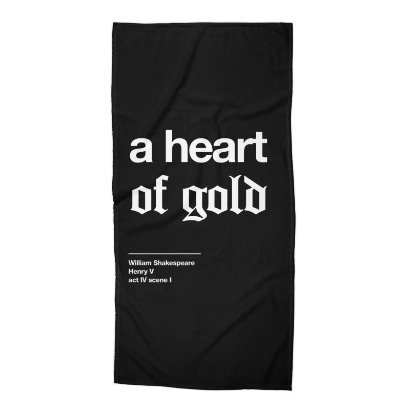 a heart of gold Accessories Beach Towel by Shirtspeare