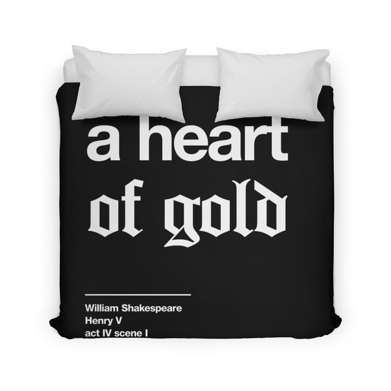a heart of gold Home Duvet by Shirtspeare