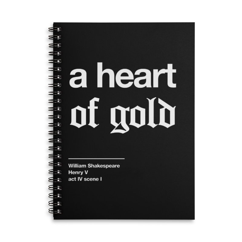 a heart of gold Accessories Lined Spiral Notebook by Shirtspeare