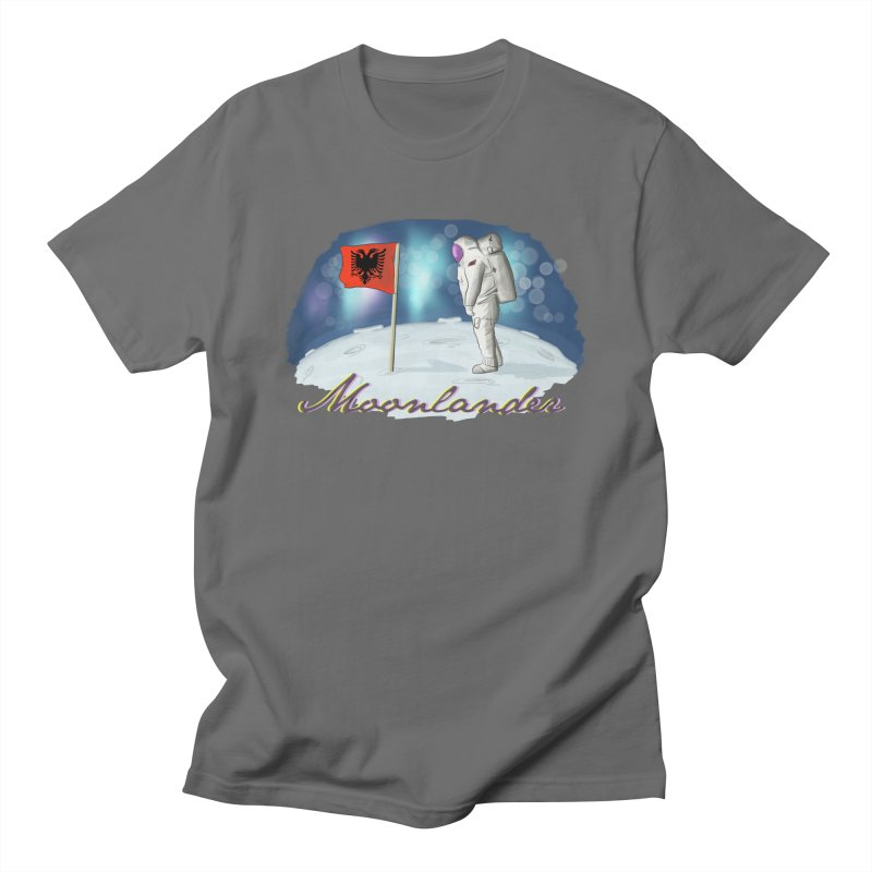 Albanian Moonlander Men's T-Shirt by ylllenjani.com