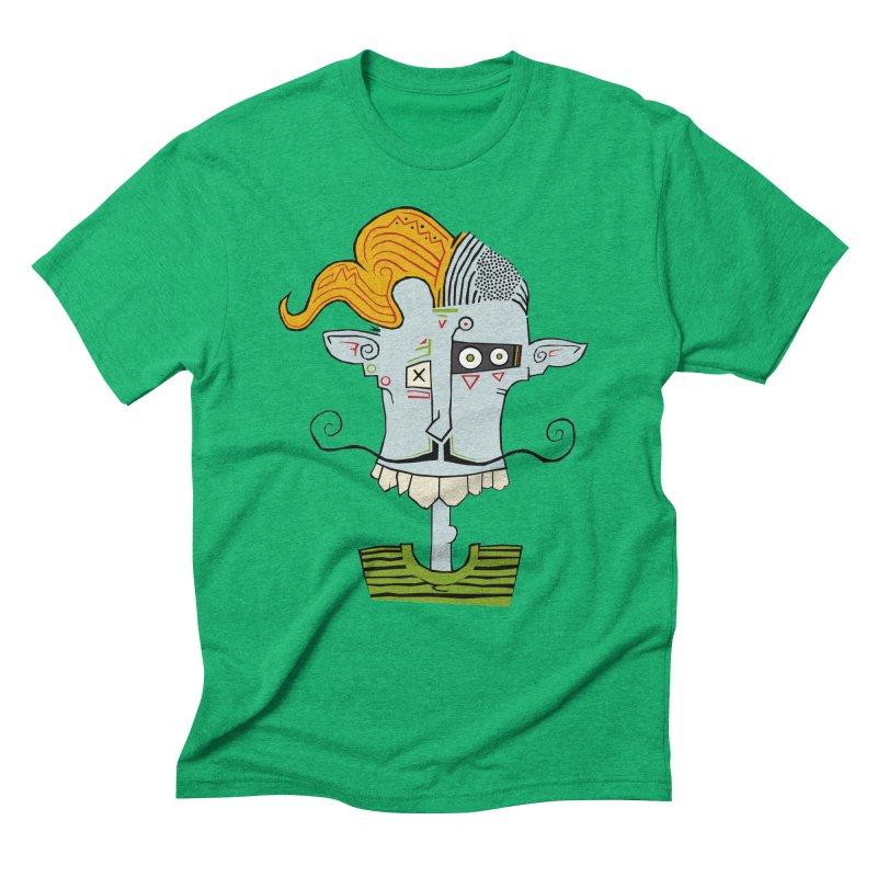 Cyber Barber Men's Triblend T-Shirt by -Sho Art