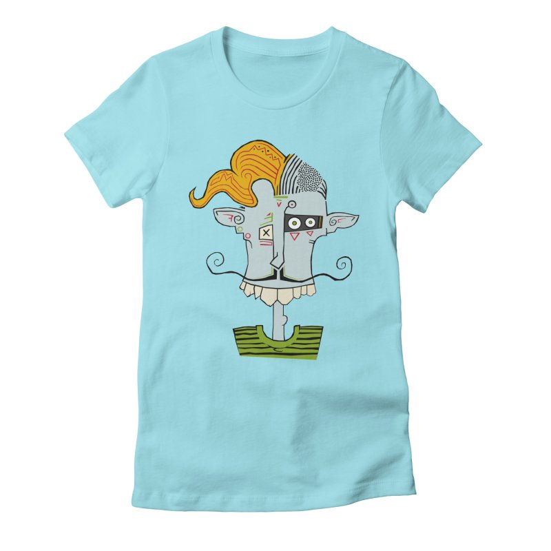 Cyber Barber Women's Fitted T-Shirt by -Sho Art