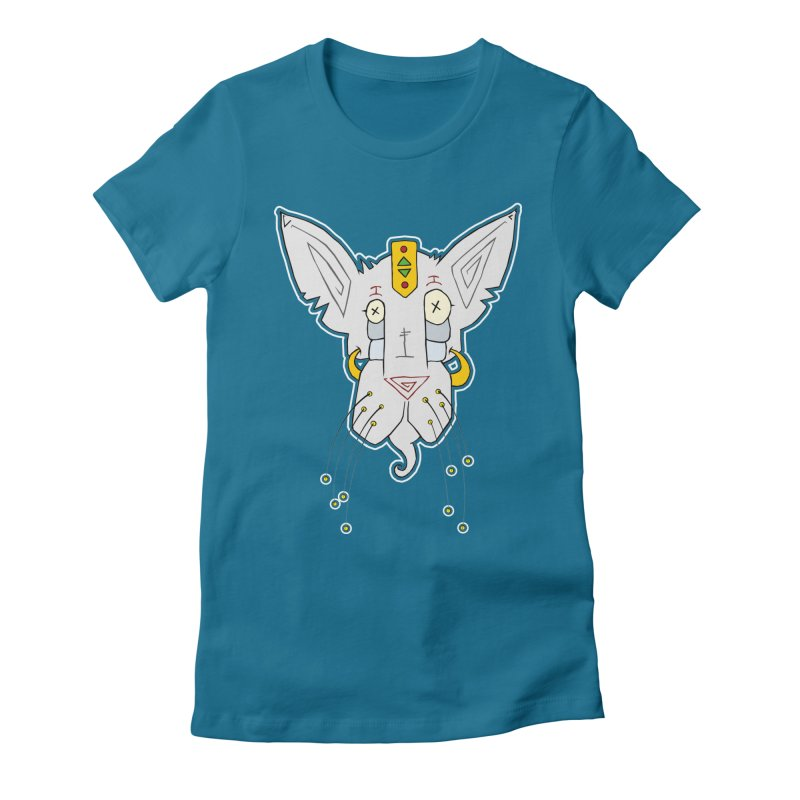 Meow-Woem Women's Fitted T-Shirt by -Sho Art