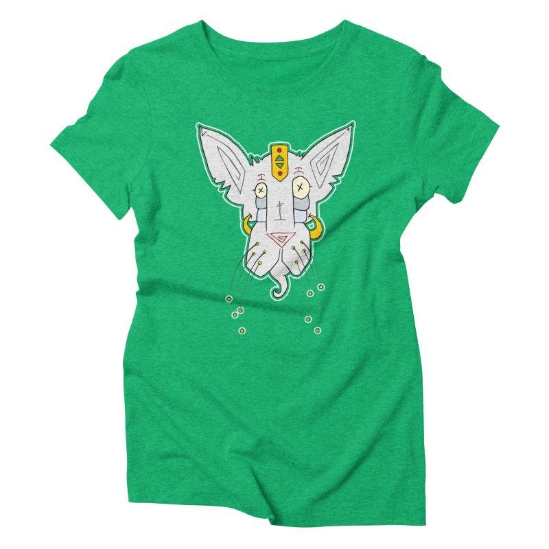 Meow-Woem Women's Triblend T-shirt by -Sho Art