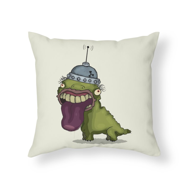 Frogy Doggy Home Throw Pillow by -Sho Art