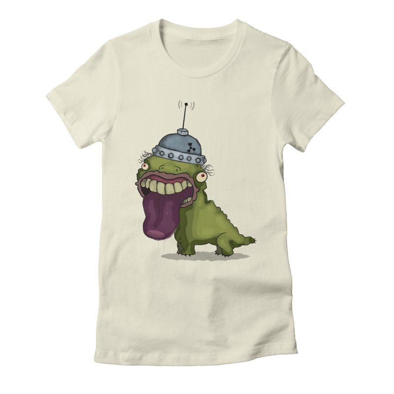 Frogy Doggy Women's Fitted T-Shirt by -Sho Art