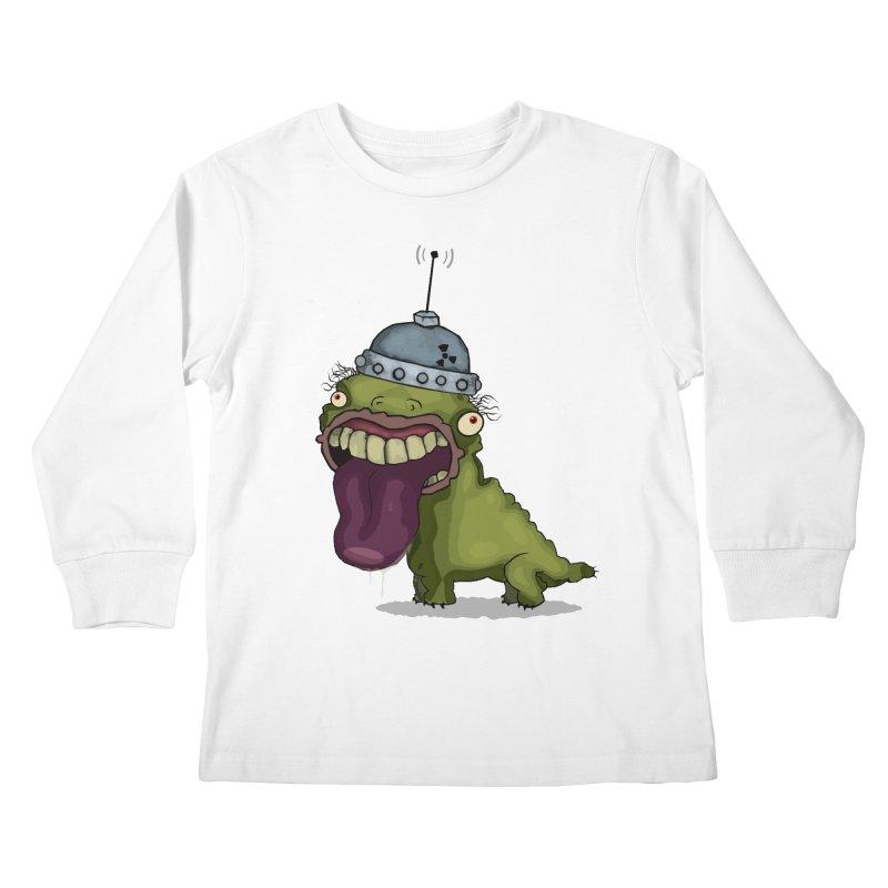 Frogy Doggy Kids Longsleeve T-Shirt by -Sho Art