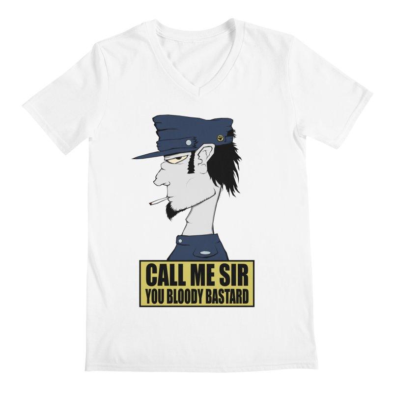 Call Me Sir Men's V-Neck by -Sho Art
