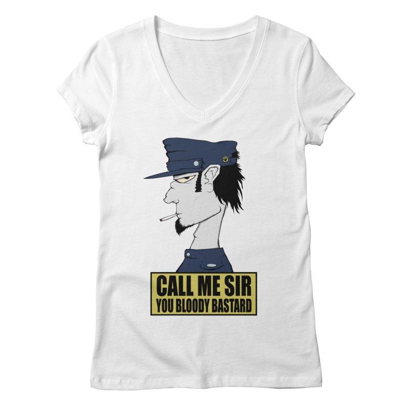 Call Me Sir Women's V-Neck by -Sho Art