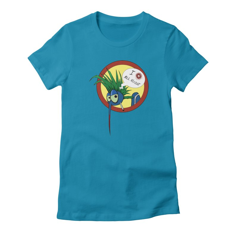 Punkass mosquito Women's Fitted T-Shirt by -Sho Art