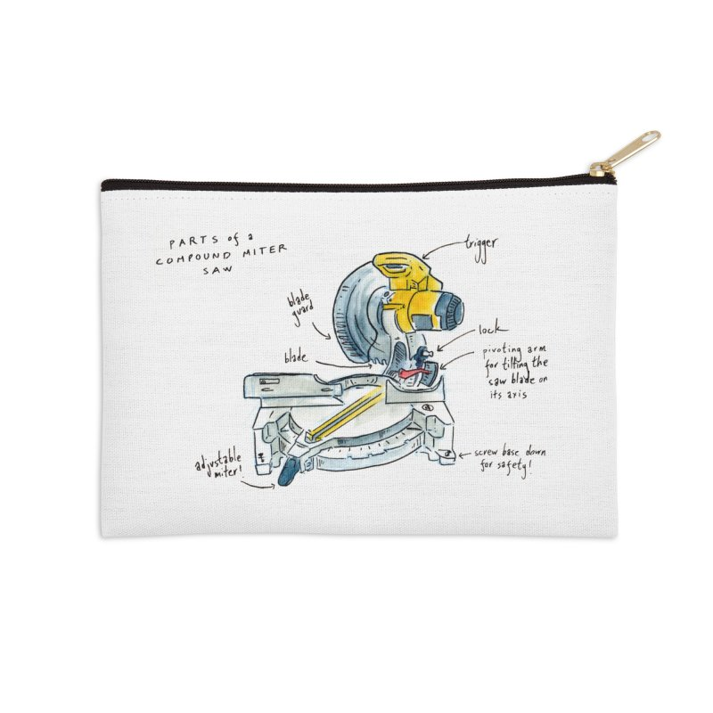Shop Class Series: Compound Miter Saw Accessories Zip Pouch by Shop Class