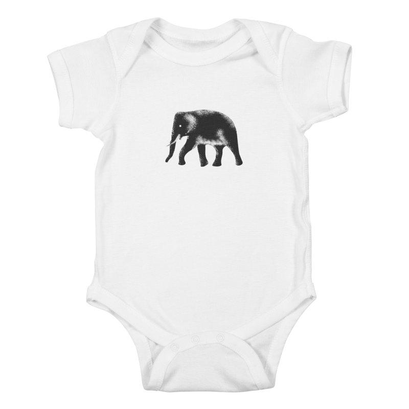 Elephant Kids Baby Bodysuit by Indigoave Artist Shop