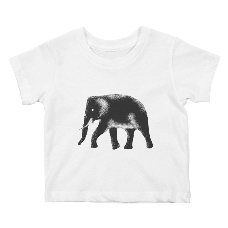 Elephant Kids Baby T-Shirt by Indigoave Artist Shop