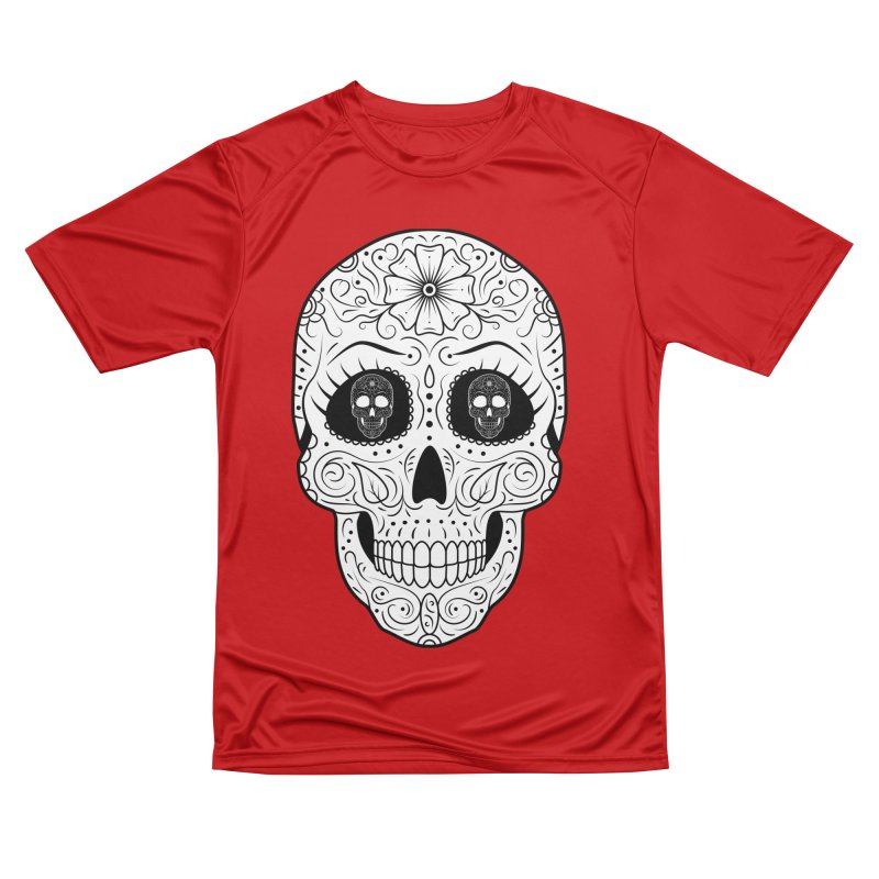 Scull with Scull Eyes Men's T-Shirt by Indigoave Artist Shop