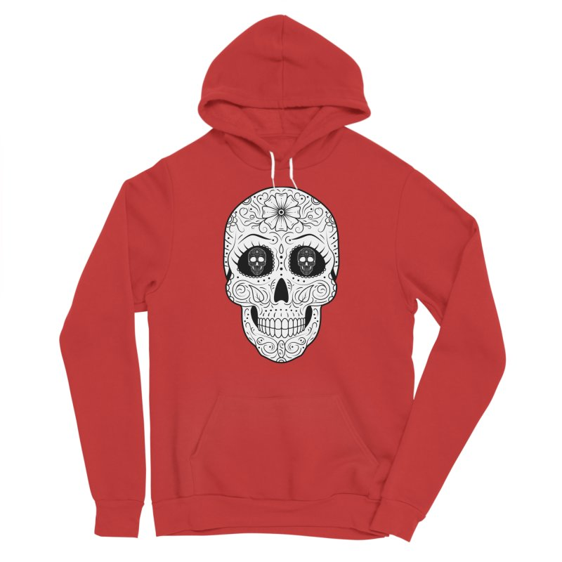 Scull with Scull Eyes Men's Pullover Hoody by Indigoave Artist Shop