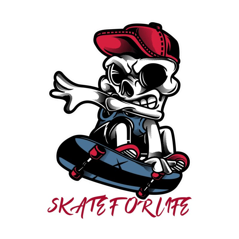 Skate For Life Men's T-Shirt by Indigoave Artist Shop