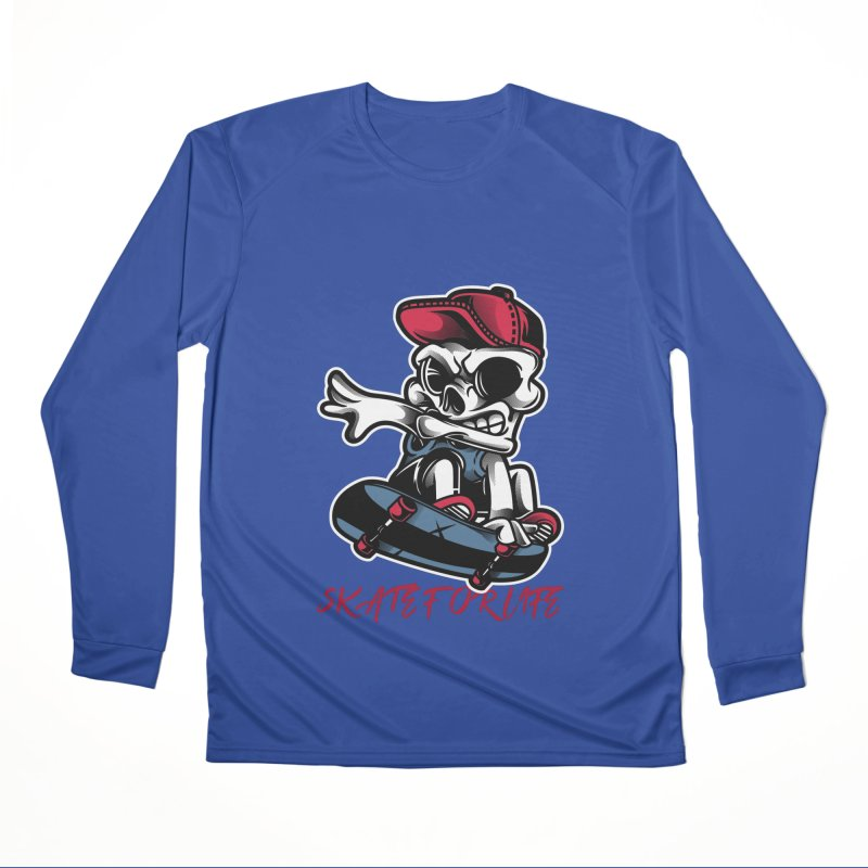 Skate For Life Men's Longsleeve T-Shirt by Indigoave Artist Shop