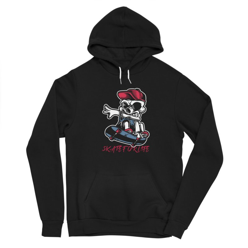 Skate For Life Men's Pullover Hoody by Indigoave Artist Shop