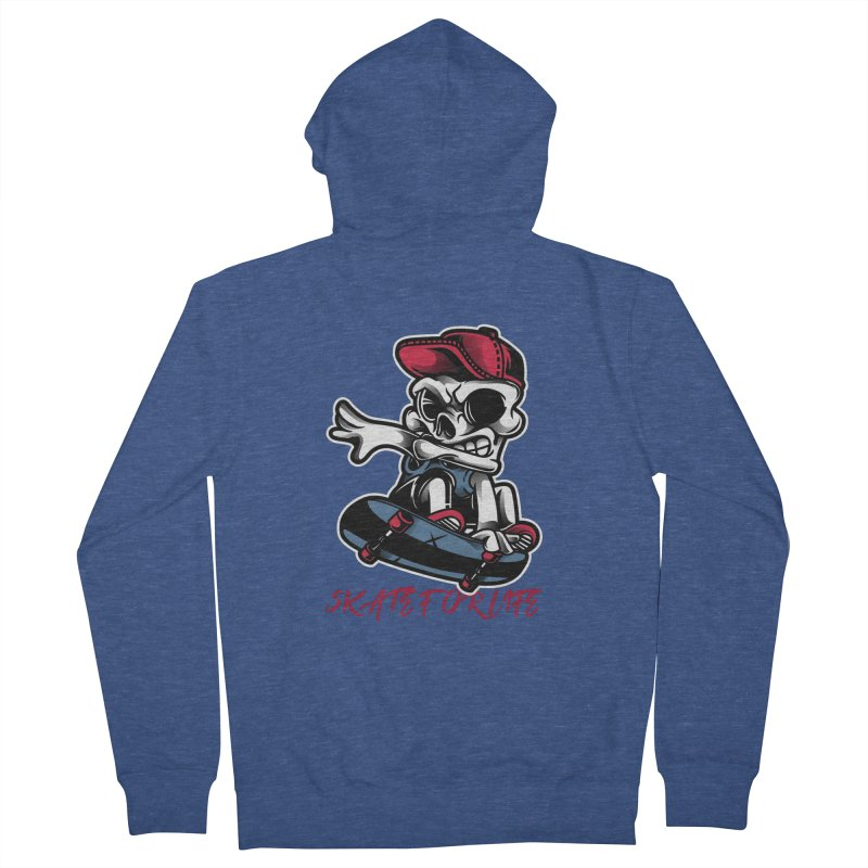 Skate For Life Men's Zip-Up Hoody by Indigoave Artist Shop