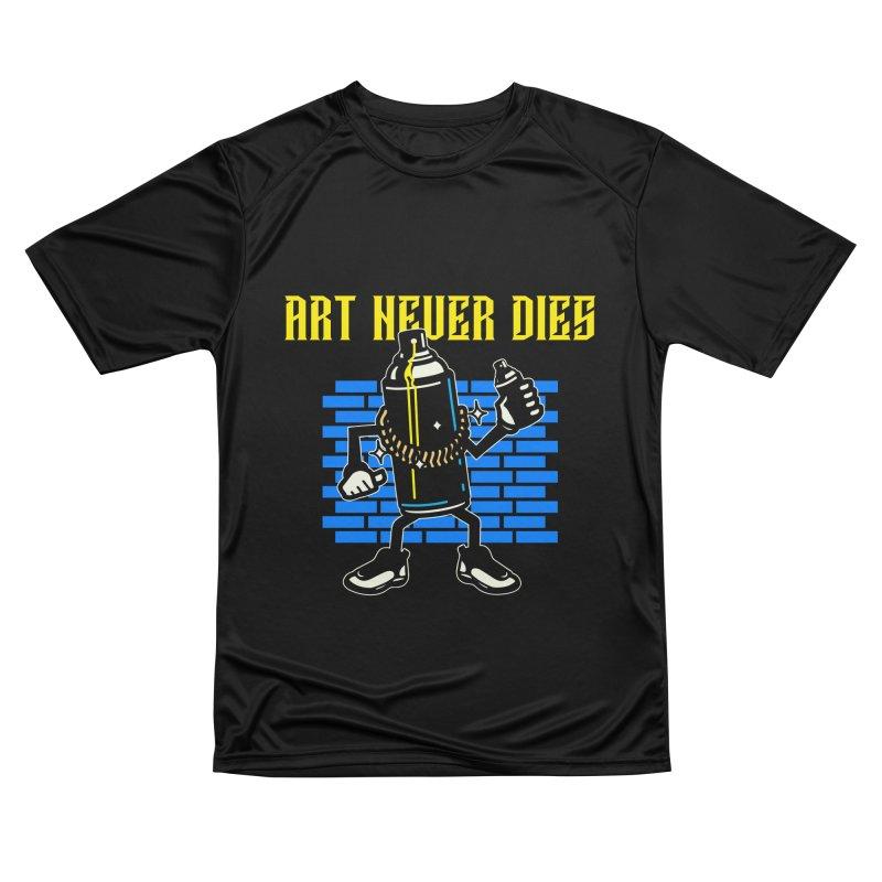 ART NEVER DIES Men's T-Shirt by Indigoave Artist Shop