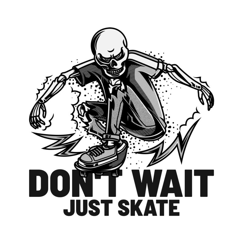 Don't Wait Just Skate Men's Zip-Up Hoody by Indigoave Artist Shop