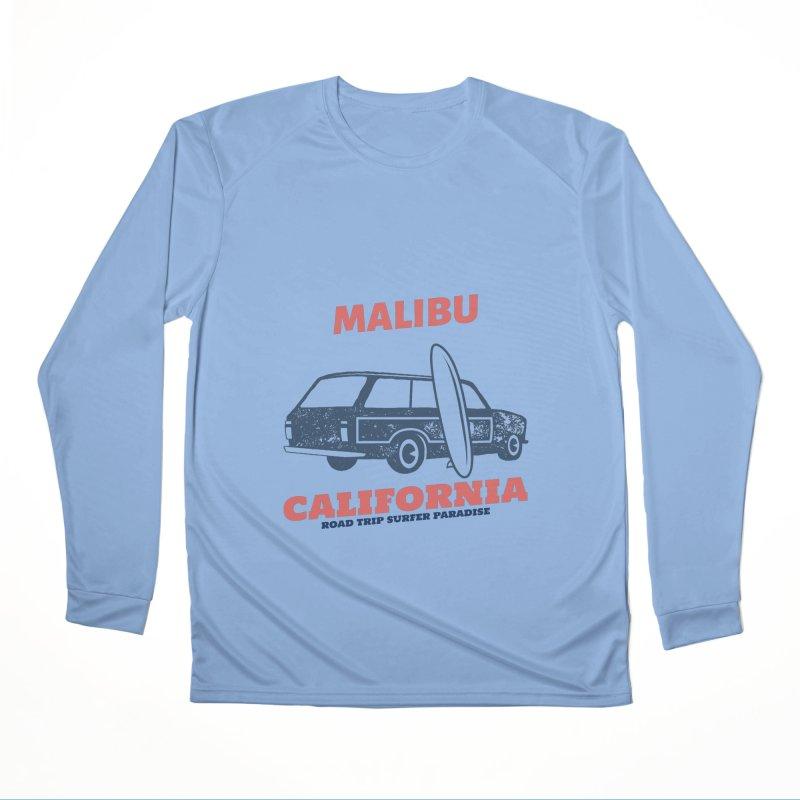 MALIBU CALIFORNIA SURFER PARADISE Men's Longsleeve T-Shirt by Indigoave Artist Shop
