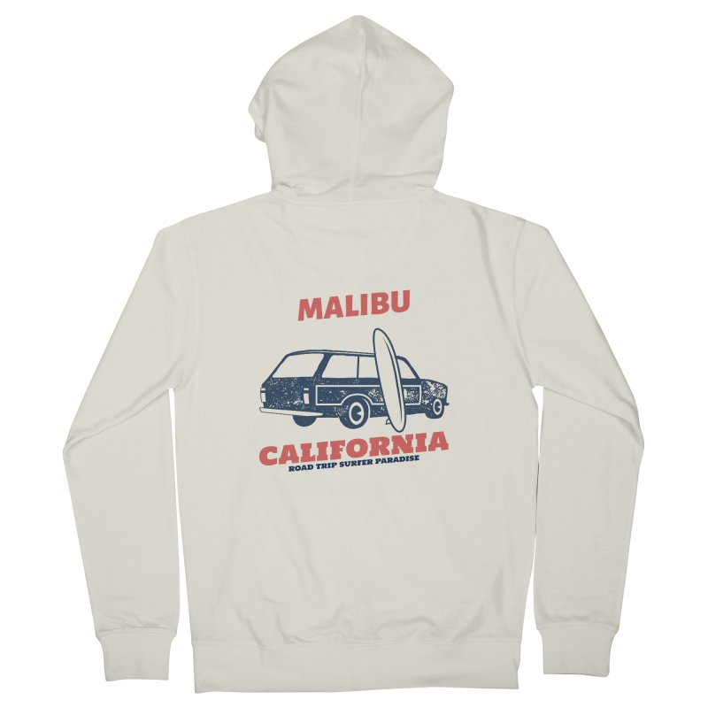 MALIBU CALIFORNIA SURFER PARADISE Men's Zip-Up Hoody by Indigoave Artist Shop