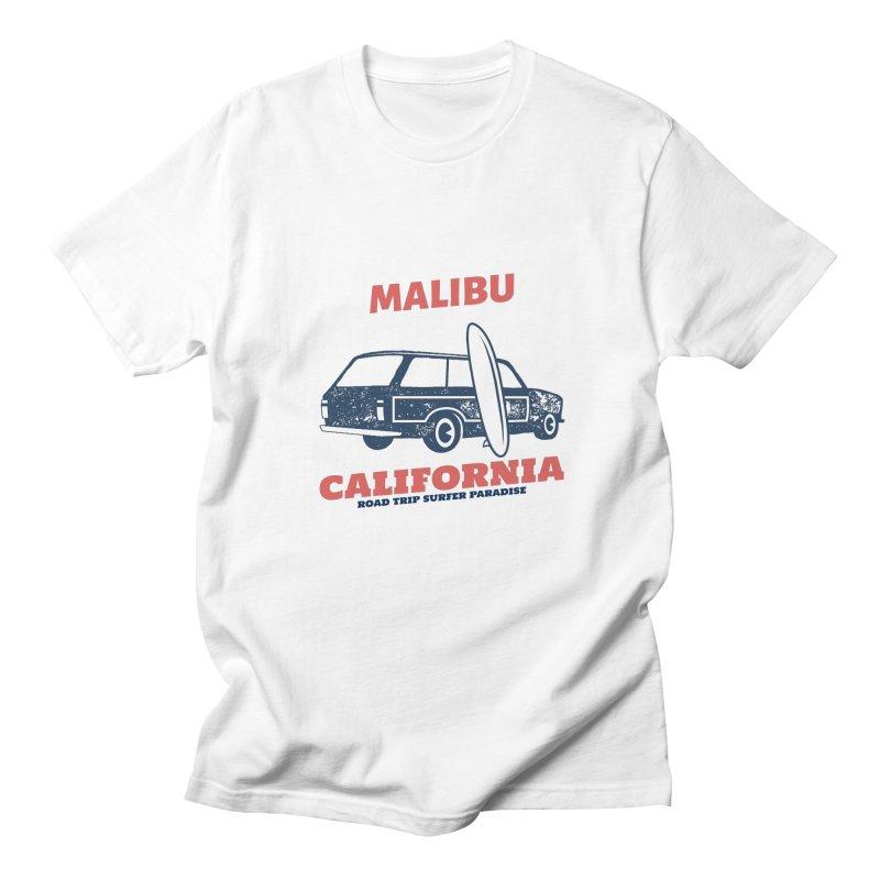 MALIBU CALIFORNIA SURFER PARADISE Men's T-Shirt by Indigoave Artist Shop
