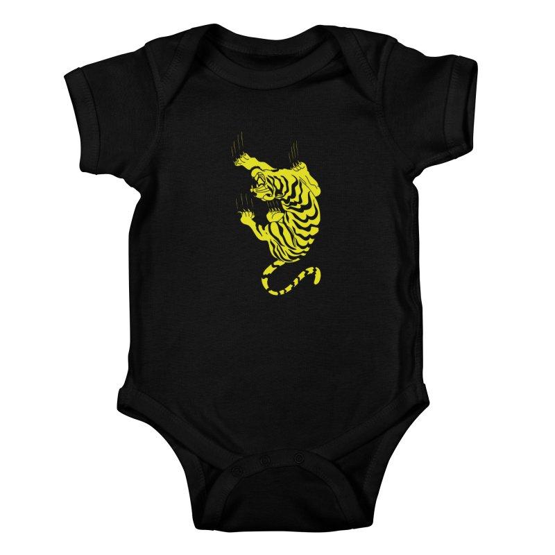 Tiger Kids Baby Bodysuit by Indigoave Artist Shop