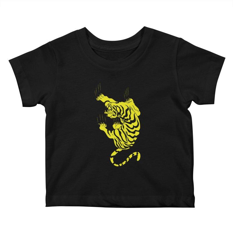 Tiger Kids Baby T-Shirt by Indigoave Artist Shop