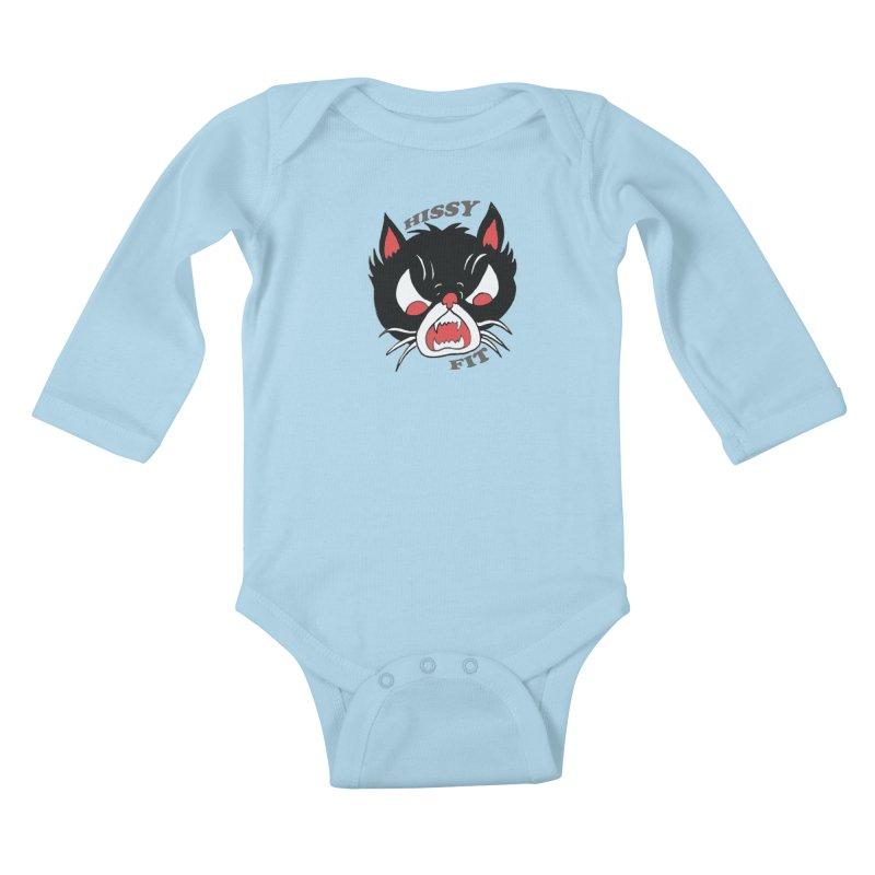 HISSY FIT Kids Baby Longsleeve Bodysuit by shortandsharp's Artist Shop