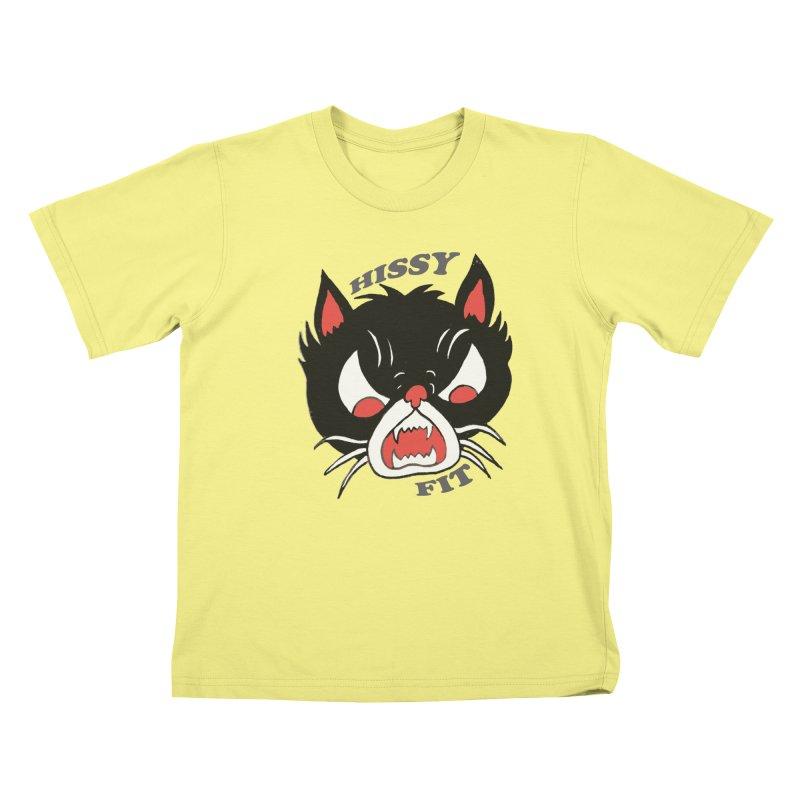 HISSY FIT Kids T-shirt by shortandsharp's Artist Shop