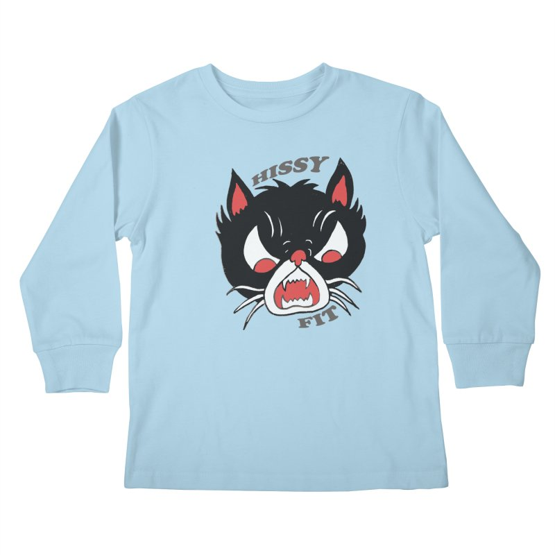 HISSY FIT Kids Longsleeve T-Shirt by shortandsharp's Artist Shop