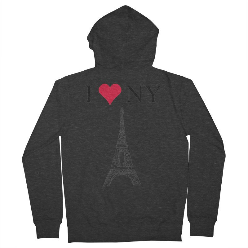 wrong city Men's Zip-Up Hoody by shortandsharp's Artist Shop