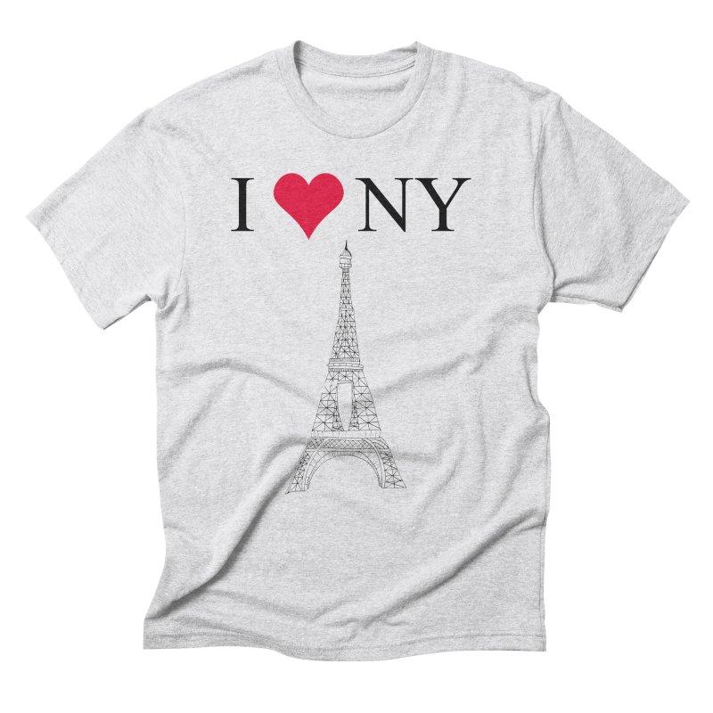 wrong city Men's Triblend T-shirt by shortandsharp's Artist Shop