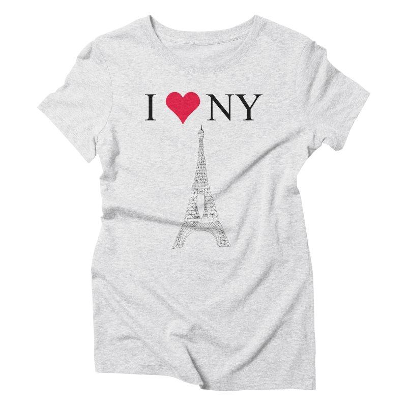 wrong city Women's Triblend T-Shirt by shortandsharp's Artist Shop