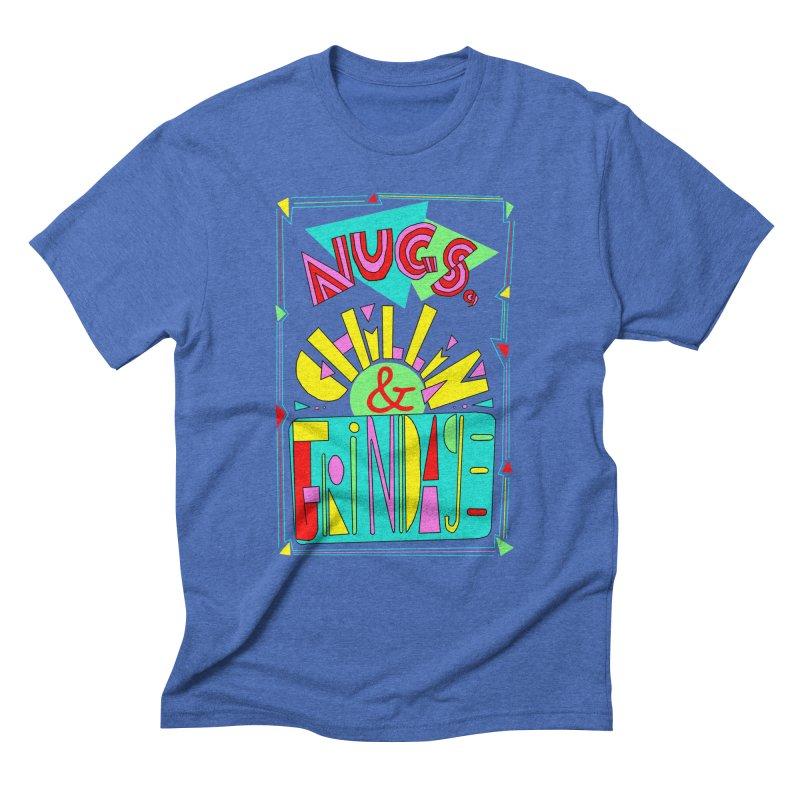 nugs, chillin and grindage Men's Triblend T-shirt by shortandsharp's Artist Shop