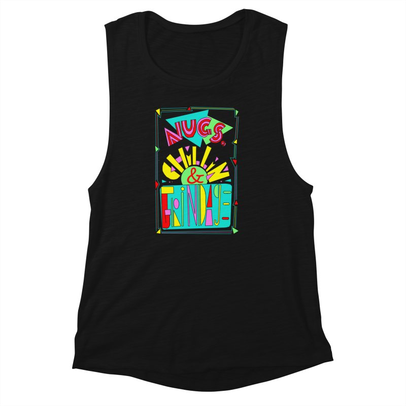 nugs, chillin and grindage Women's Muscle Tank by shortandsharp's Artist Shop