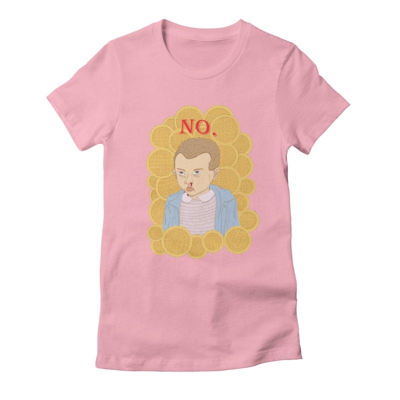 No.  Women's Fitted T-Shirt by shortandsharp's Artist Shop