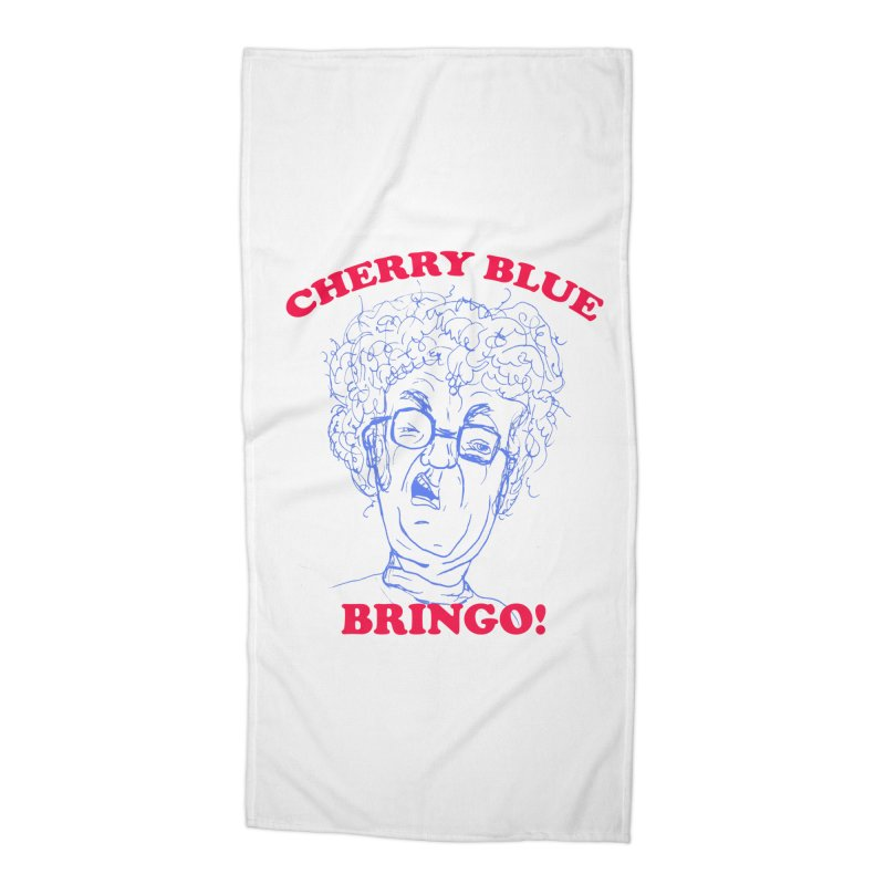 CHERRY BLUE! Accessories Beach Towel by shortandsharp's Artist Shop