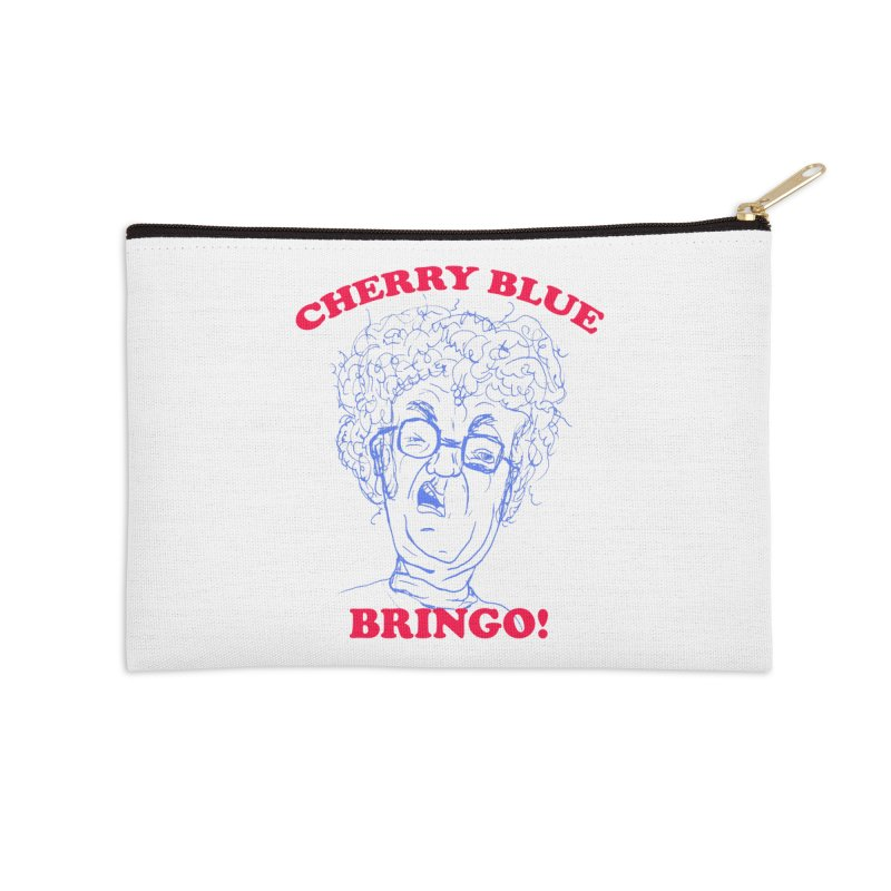 CHERRY BLUE! Accessories Zip Pouch by shortandsharp's Artist Shop