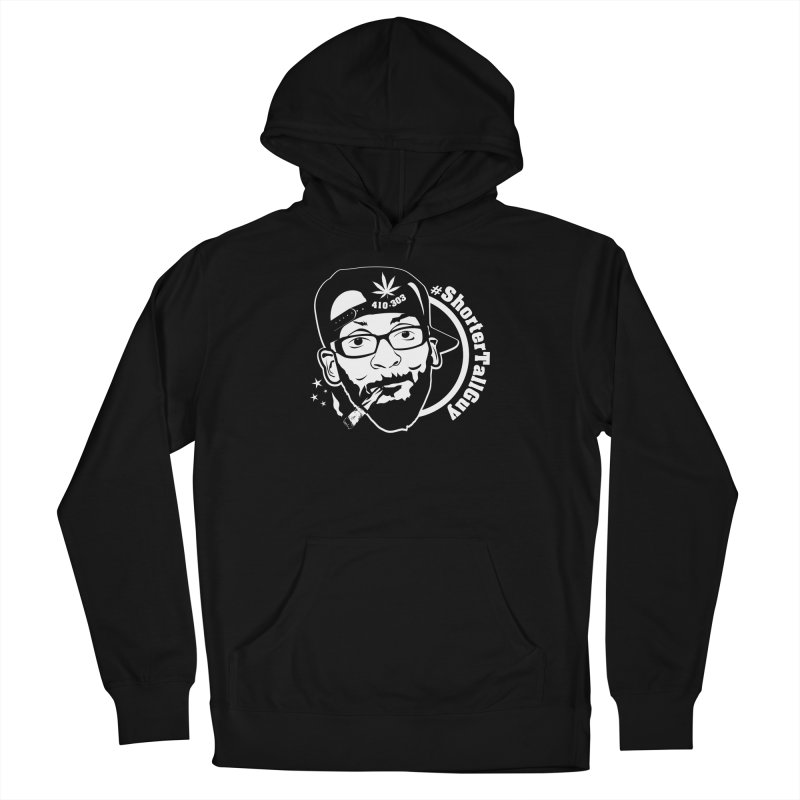 Shorter Apparel (black) in Men's French Terry Pullover Hoody Black by #ShorterTallGuy Apparel