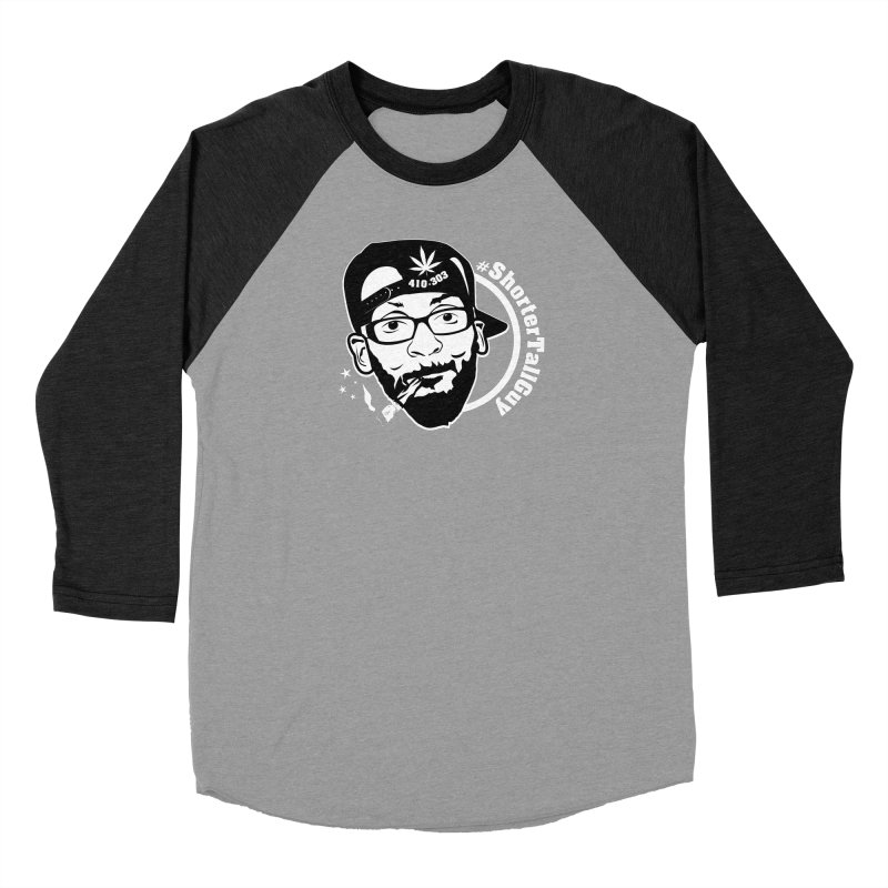 Shorter Apparel (black) in Women's Baseball Triblend Longsleeve T-Shirt Heather Onyx Sleeves by #ShorterTallGuy Apparel