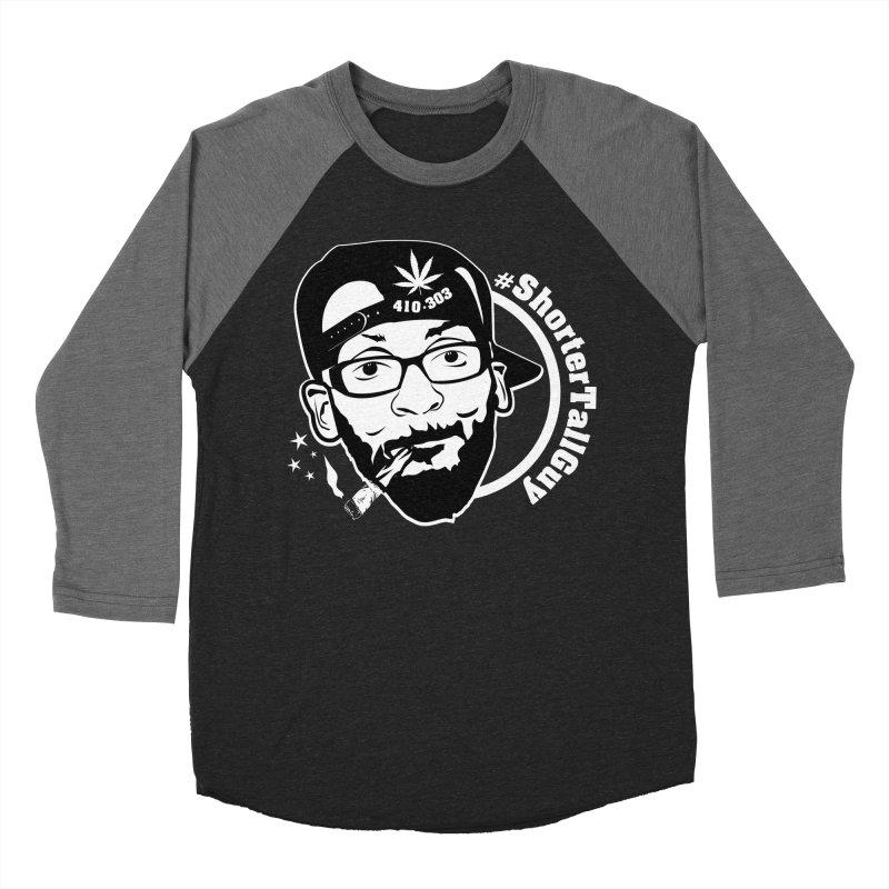 Shorter Apparel (black) Men's Baseball Triblend Longsleeve T-Shirt by #ShorterTallGuy Apparel