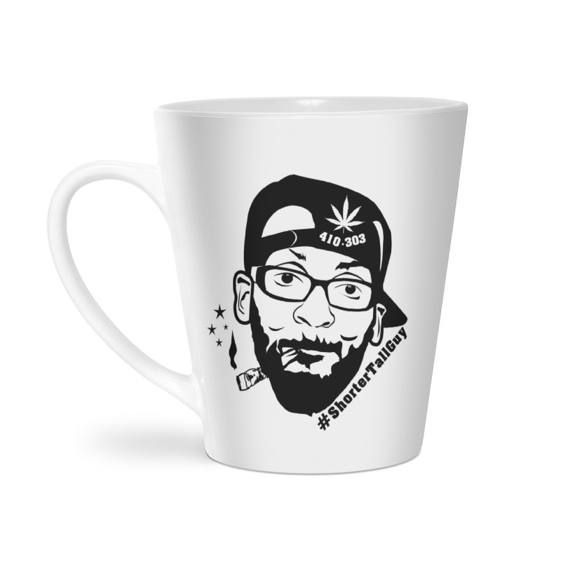 Shorter Accessories (white) in Latte Mug by #ShorterTallGuy Apparel