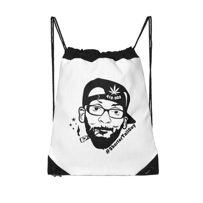 Shorter Accessories (white) Accessories Drawstring Bag Bag by #ShorterTallGuy Apparel