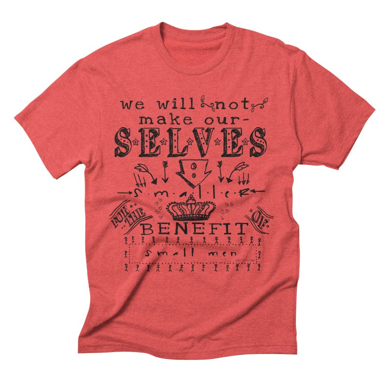 Small Men Men's T-Shirt by shouty words's Artist Shop