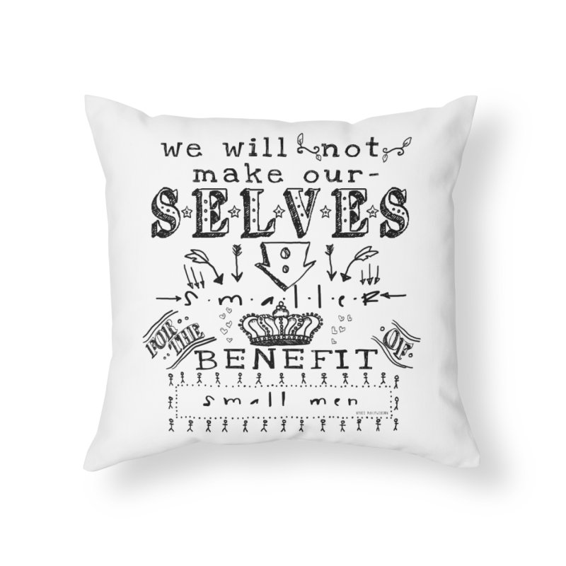 Small Men Home Throw Pillow by shouty words's Artist Shop