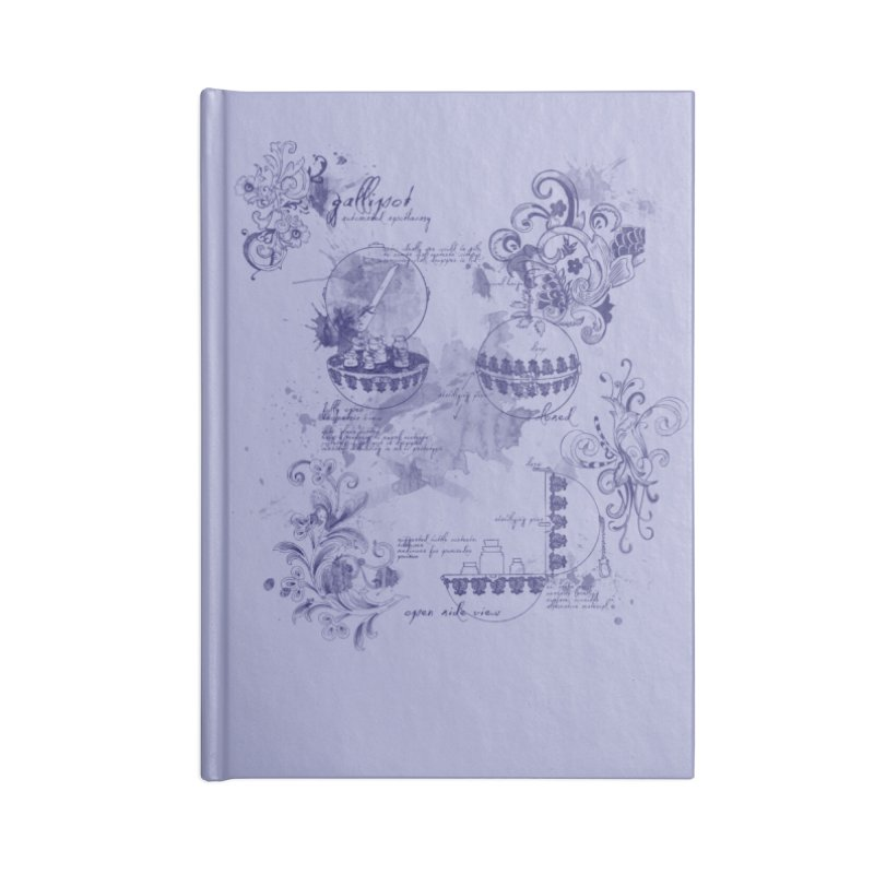 Gallipot: automated anodyne mixing device Accessories Notebook by shouty words's Artist Shop